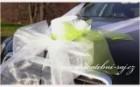 Klobouk na automobil s růží
