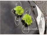 Ozdoba na automobil zelené růže