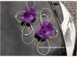 Zobrazit detail - Ozdoba na automobil fialové růže