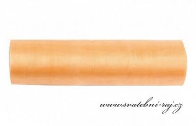 Organza meruňková, šíře 16 cm