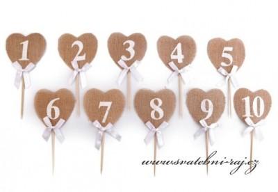 Číslice na svatební stůl