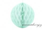 Koule Honeycomb světle mátová, 30 cm průměr