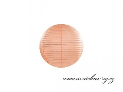 Lampion koule meruňka, průměr 20 cm