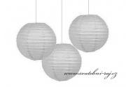 Lampion koule šedý, průměr 25 cm