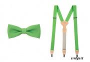 Zobrazit detail - Motýlek s kapesníčkem a šle zelené