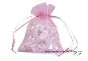 Zobrazit detail - Organzový sáček růžovo-fialový