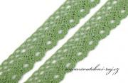 Zobrazit detail - Paličkovaná krajka zelená, šíře 2,8 cm