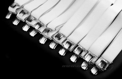 Pánské šle bílé šíře 3,5 cm typ Y