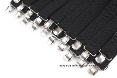 Pánské šle černé šíře 3,5 cm typ Y