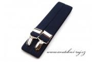 Pánské šle navy blue typ X