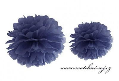Pom Poms dark blue, průměr 35 cm