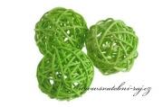 Ratanová koule jablíčkově zelená