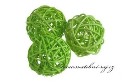 Ratanová koule zelená