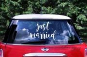 Zobrazit detail - Samolepka na svatební automobil