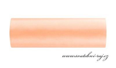 Satén v roli meruňkovo-lososový, šíře 15 cm