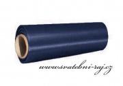 Satén v roli navy blue, šíře 15 cm