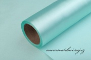 Satén v roli mint-blue, šíře 15 cm