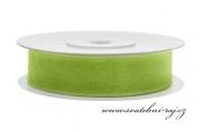 Zobrazit detail - Šifónová stuha jablíčkově zelená, šíře 12 mm