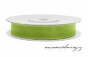 Zobrazit detail - Šifónová stuha jablíčkově zelená, šíře 6 mm