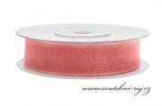 Zobrazit detail - Šifónová stuha růžovo-korálová, šíře 12 mm