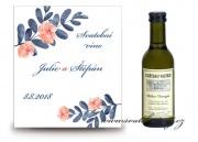 Zobrazit detail - Svatební mini víno ve stylu akvarel