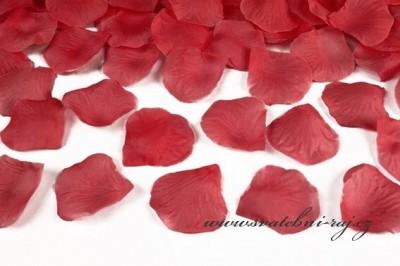 Textilní plátky růží červené