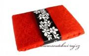 Zobrazit detail - Organza s ornamentem červená