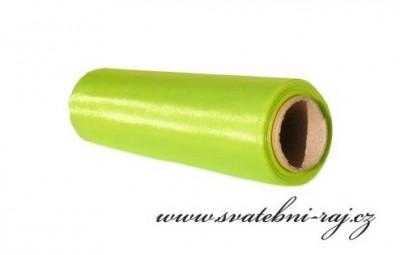 Organza šerpa zelená