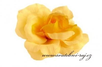 Dekorační růže textilní