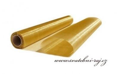 Organza šerpa zlatá