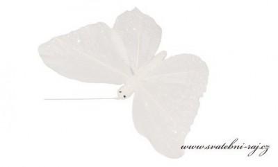 Dekorační motýl z peří