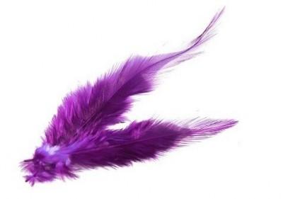 Dekorační peří fialové