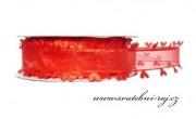 Zobrazit detail - Luxusní červená stuha se srdíčky