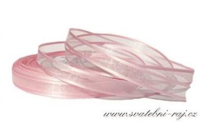 Stuha s lemem růžová