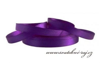 Saténová stuha fialová