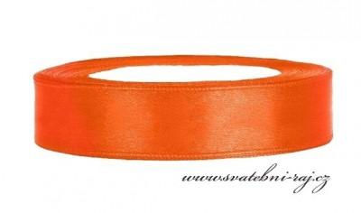 Saténová stuha oranžová