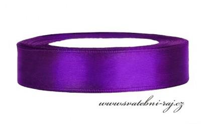 Saténová stuha purpurová