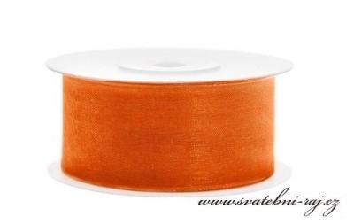 Monofilová stuha oranžová