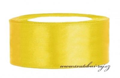 Saténová stuha žlutá