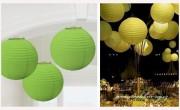 Dekorační koule zelená, 30 cm průměr
