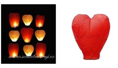 Létající přání srdce