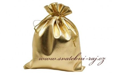Svatební sáček zlatý