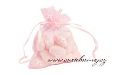 Sáček organza růžový
