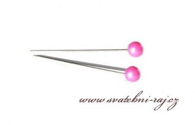 Dekorační špendlík růžový