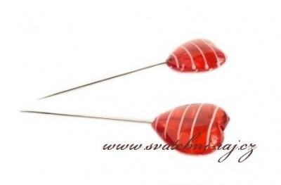 Špendlík srdíčko červené