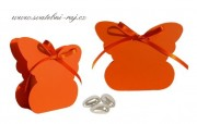 Krabička motýl v oranžové barvě