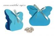 Krabička motýl v modré barvě