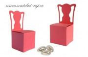 Papírová krabička židle růžová