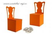 Papírová krabička židle oranžová