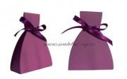 Krabička šaty v tmavě fialové